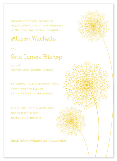 wedding invitations - Dandelion Spring by Jessica Bishop