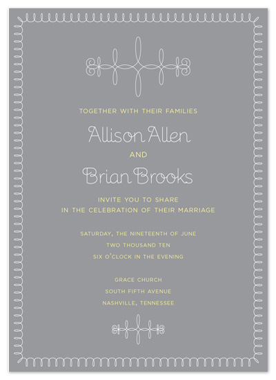 wedding invitations - Simple Swirls by Jessica Bishop
