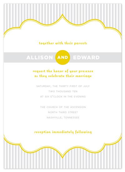wedding invitations - Modern Striped Frame by Jessica Bishop