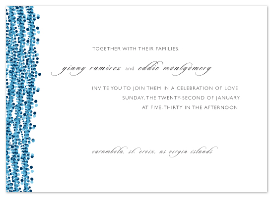 wedding invitations - Ocean Dots by Christine Wagner