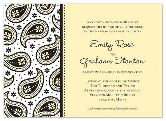 wedding invitations - Perfectly Paisley by TanFish