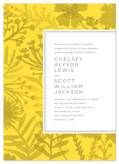 wedding invitations - Sundance Wildflowers by j.bartyn