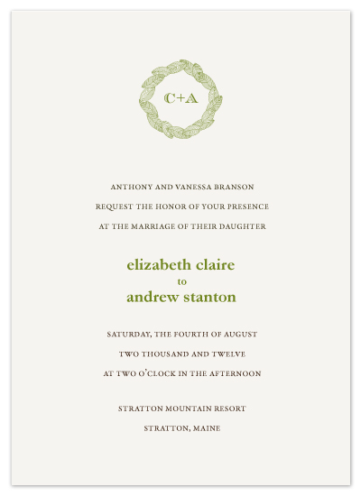 wedding invitations - Laurel Love by Sydney Newsom
