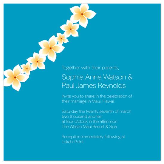 wedding invitations - Hawaii by Amelia Wolff