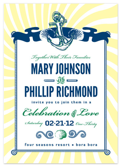 wedding invitations - Anchors Away! by Ephemeral Evidence