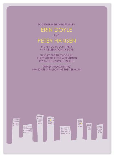 wedding invitations - Down Town by Åsa Ranneby