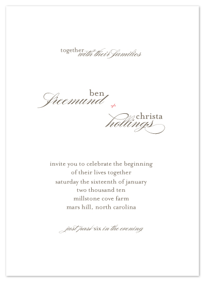 wedding invitations - The Christa by .cevd.