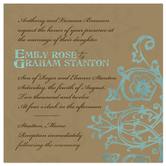 wedding invitations - Coffee Mint Cream by www.project1128.com