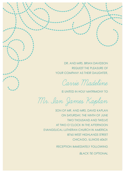 wedding invitations - Flecked Swirls by Dish and Spoon