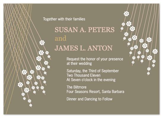 wedding invitations - Raining Flowers by Jennifer C
