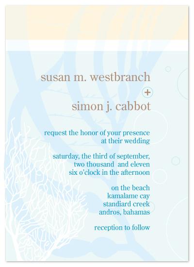 wedding invitations - Seaside Nuptials by Jennifer C