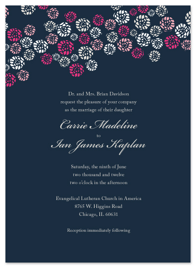 wedding invitations - Abtract Roses by Riga Sutakul