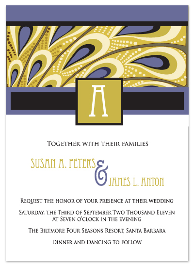 wedding invitations - Deco Wedding by Jennifer C