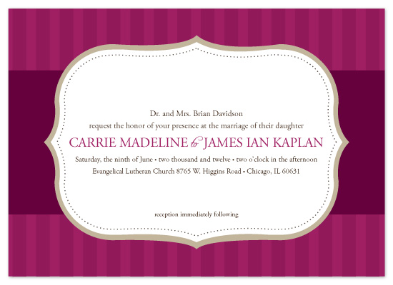 wedding invitations - Elegantly Framed by Megan Bryan