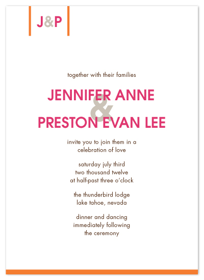wedding invitations - Just my type by Saddle Stitch Studio