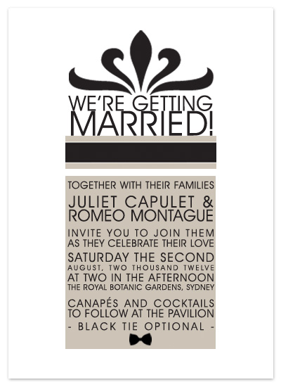 wedding invitations - Canapés and Cocktails by LNL