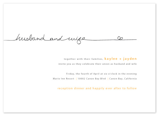wedding invitations - the happy couple by R studio
