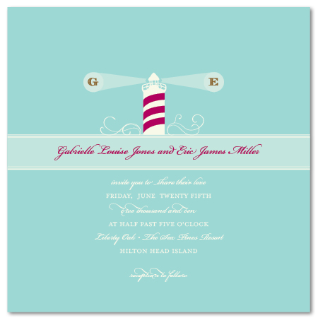 wedding invitations - Lighthouse by Tickled Ink Paperie
