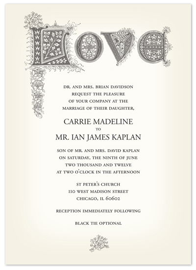 wedding invitations - Romeo & Juliet by Letter19Design