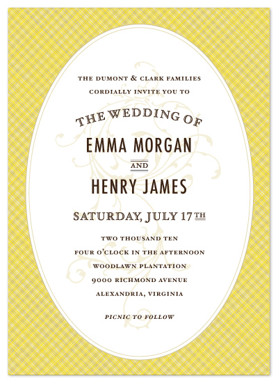 wedding invitations - Vintage Picnic Basket by cambria