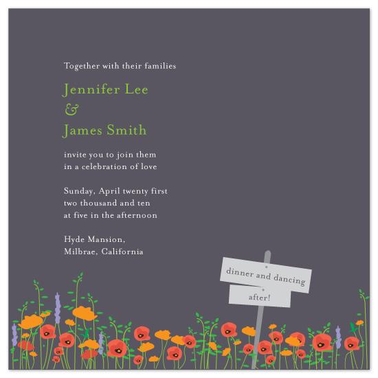 wedding invitations - Dusky Flower Field by Evelyn
