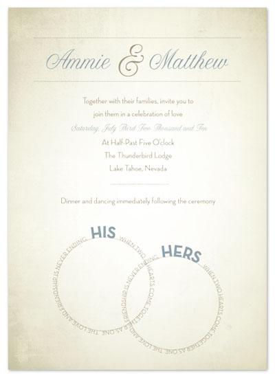 wedding invitations - Wedding Rings by Amy