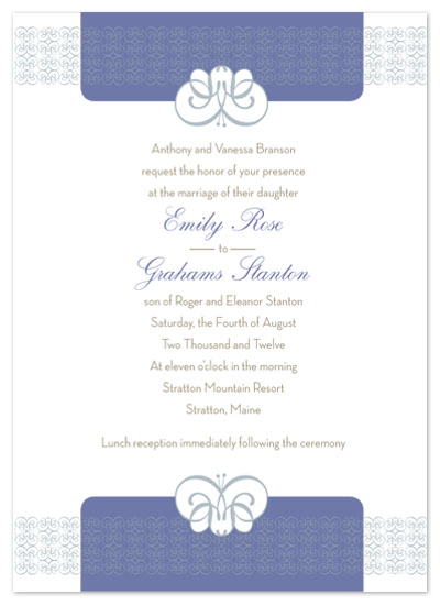 wedding invitations - Elegant Blue by Amy