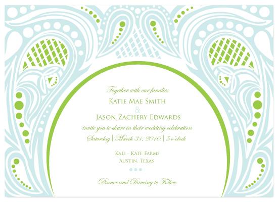 wedding invitations - Paisley Swirl by Jayme Marie Designs
