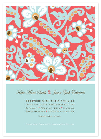 wedding invitations - Floral Tapestry by Jayme Marie Designs