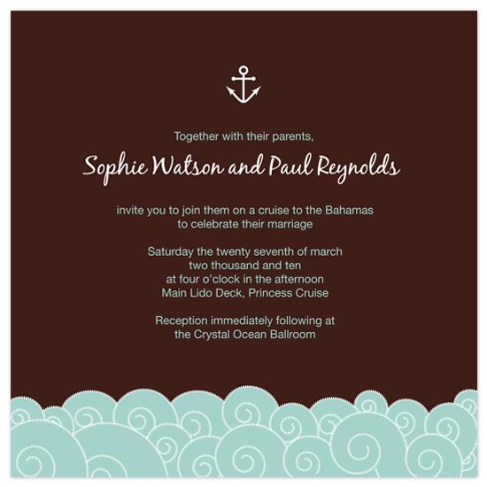 wedding invitations - Cruisin by Amelia Wolff