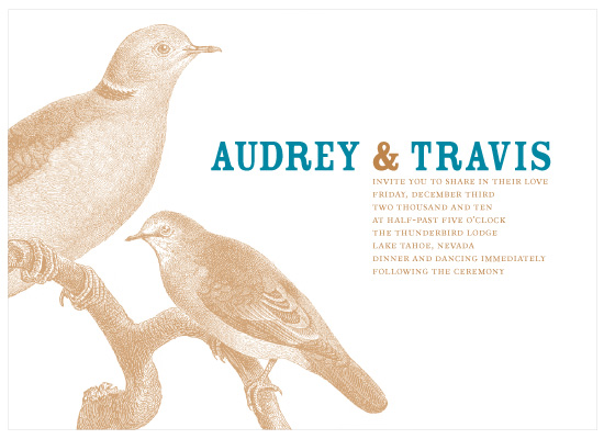 wedding invitations - Love Birds by Allison Grynberg