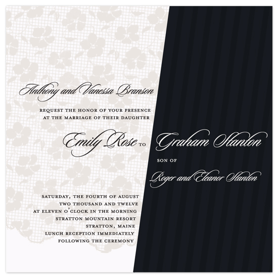 wedding invitations - lace in bride'n'groom  by Deniz Ören