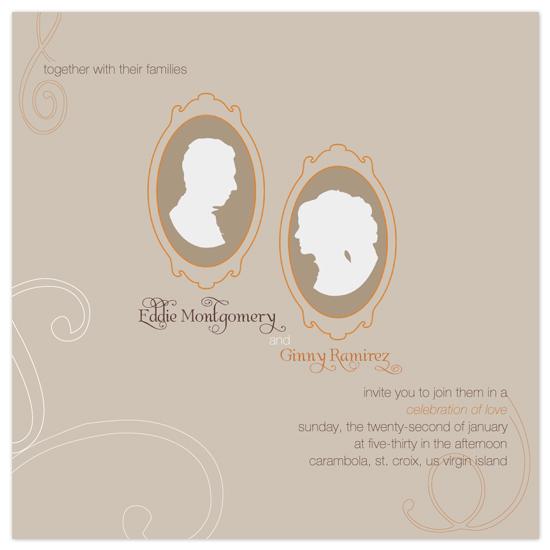 wedding invitations - B&G medallions by Deniz Ören
