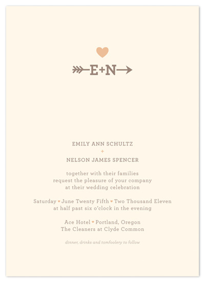 wedding invitations - Love Struck by The Social Type