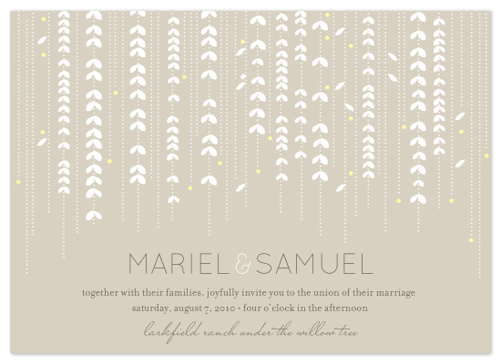 wedding invitations - willow tree by sweet street gals