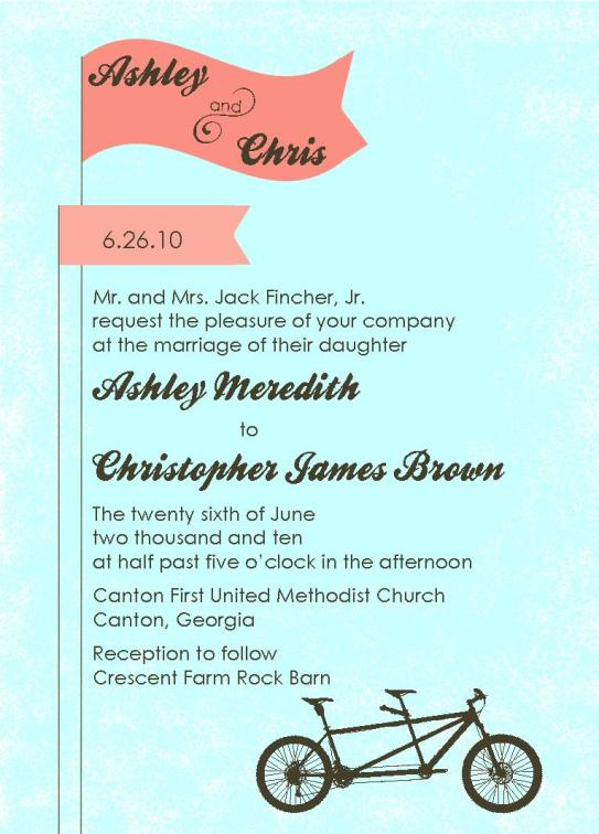 wedding invitations - Two Seater by Fish Feather