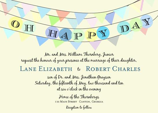 wedding invitations - Oh Happy Day by Fish Feather