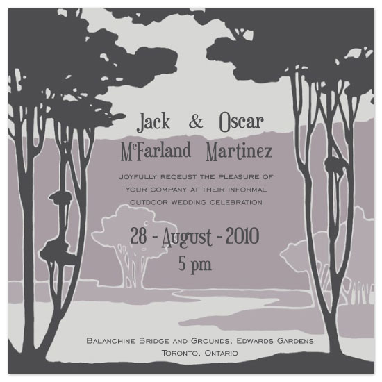 wedding invitations - Forest Through the Trees by Josephine Guidolin
