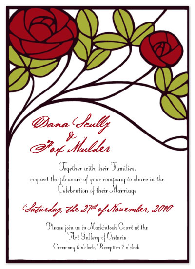 wedding invitations - Mackintosh Roses by Josephine Guidolin