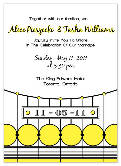 wedding invitations - Art Deco Gate by Josephine Guidolin