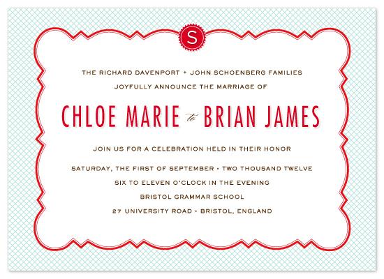 wedding invitations - Parisian Grammar School by j.bartyn