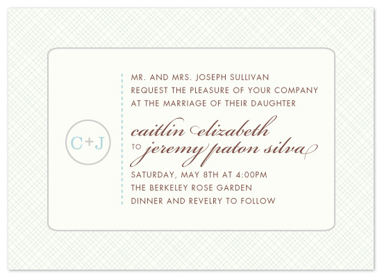 wedding invitations - Sweet & Simple  by uphill industries
