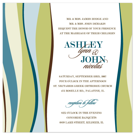 wedding invitations - Ashley by Ten26 Design Custom Invitations