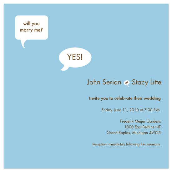 wedding invitations - Pop the Question by Sue Bakkila