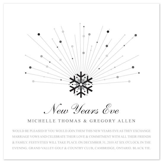 wedding invitations - midnight snowflake by Kate Trowbridge