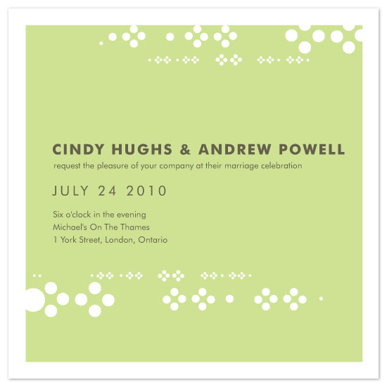 wedding invitations - Sweet Circles by Kate Trowbridge