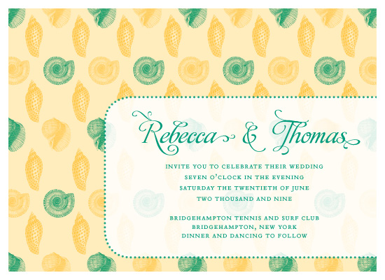 wedding invitations - Sea Shells by Allison Grynberg