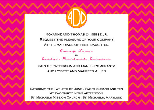 wedding invitations - Zig Zag by Weddings and Wellies