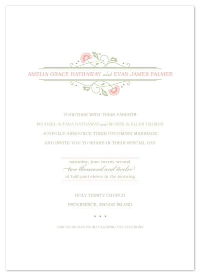 wedding invitations - sweet amelia by Karen Glenn