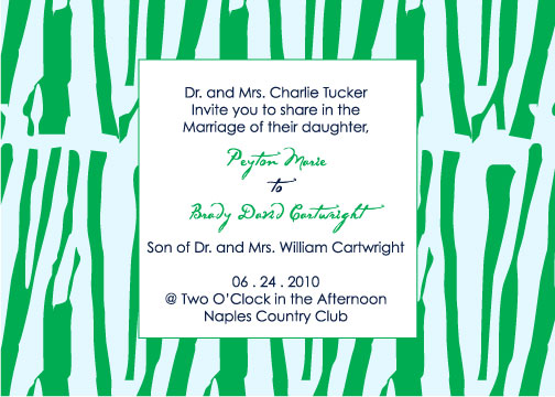 wedding invitations - Naples Grass Leaves by Weddings and Wellies